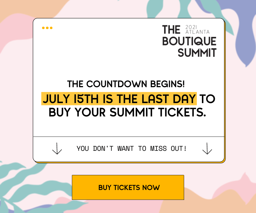 The Countdown Begins! JULY 15 IS THE LAST DAY to buy your Summit tickets. You don't want to miss out! Buy tickets now