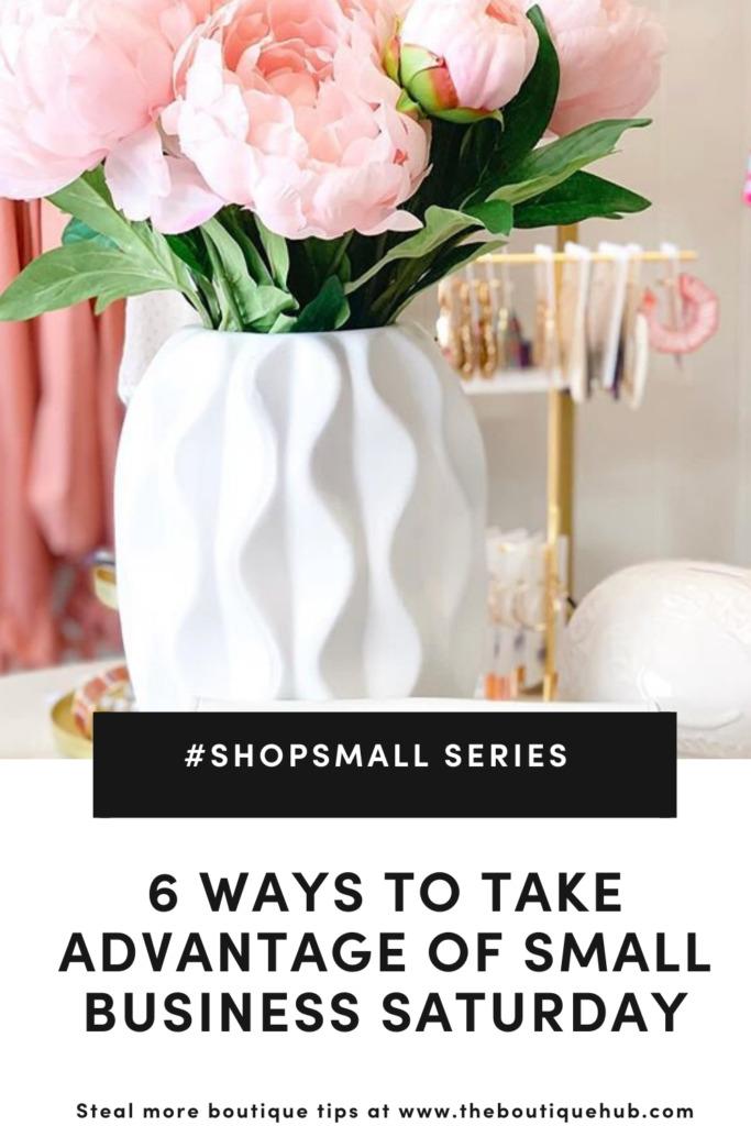 6 Ways to Take Advantage of Small Business Saturday