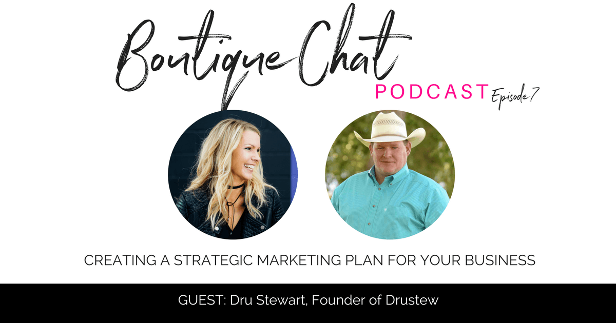 Creating a strategic marketing plan for your business, with brand expert, Drustew | Boutique Chat Podcast | The Boutique Hub