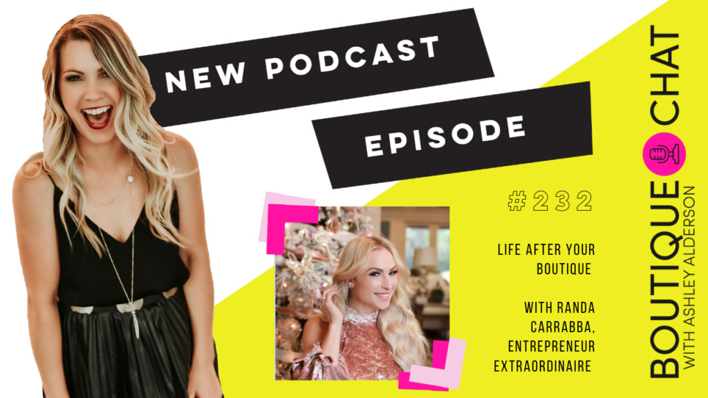 Have you ever wondered what life would be like AFTER your boutique? Today, we chat with Randa Carrabba, Founder of Southern Jewlz, PowHer.Fit, and her own label -- about how life can evolve from your boutique! Randa's entrepreneurial journey began with making jewelry in college and from there it grew into a widely successful clothing boutique. She shows us that evolving as a person and a business owner is OK, it may be scary but you'll never look back with regret. Randa is a woman who wears many hats but does it all with so much grace, you can't miss this inspiring episode!