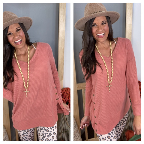 Snap to It Thermal Top in Ash Rose