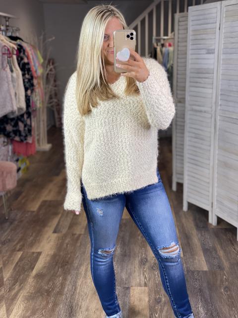 Cloud 9 Eyelash Sweater