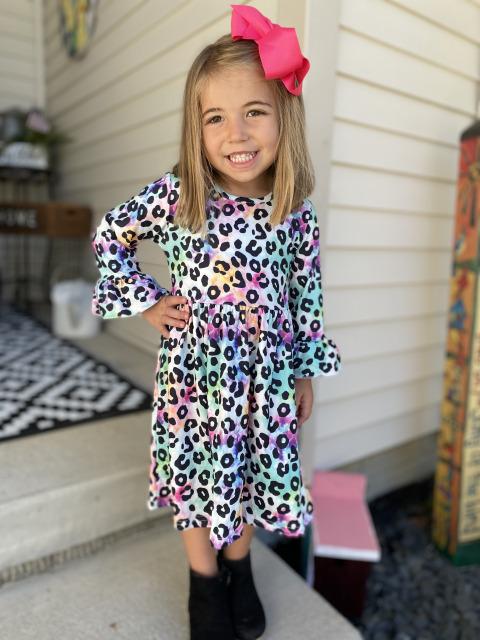 Tie Dye Cheetah Dress
