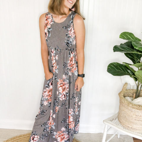 Showing Off Gray Maxi